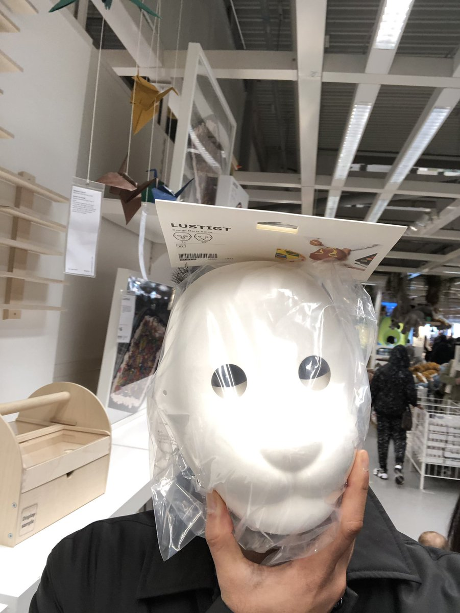No shortage of anti Corona masks in Ikea, £3.50 for two! https://t.co/513TYvpSaD