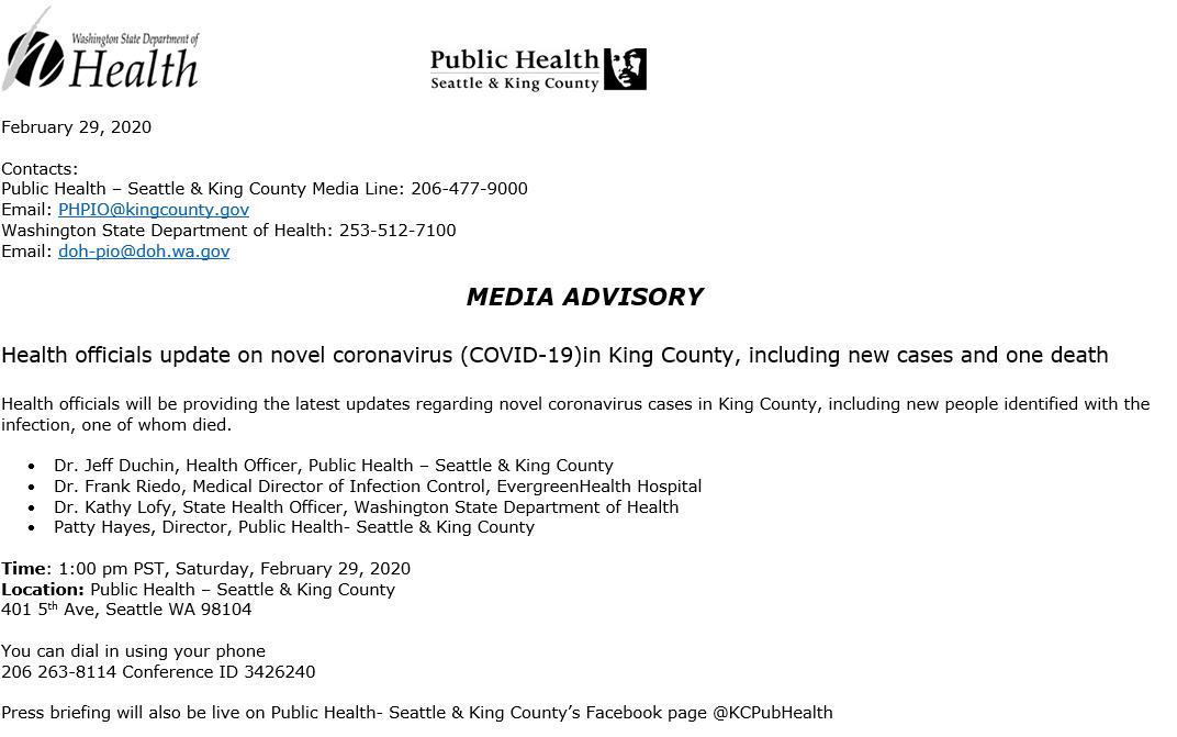 coronavirus latest news washington