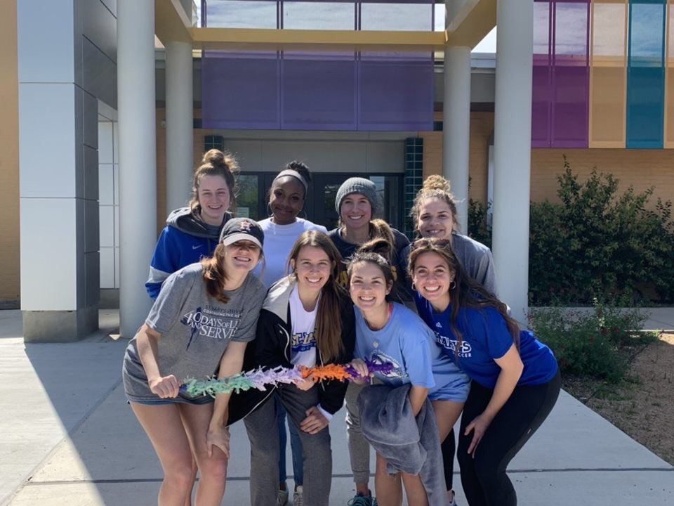 All smiles from Family Services and the Community Center! @StMarysU @StMarysRattlers