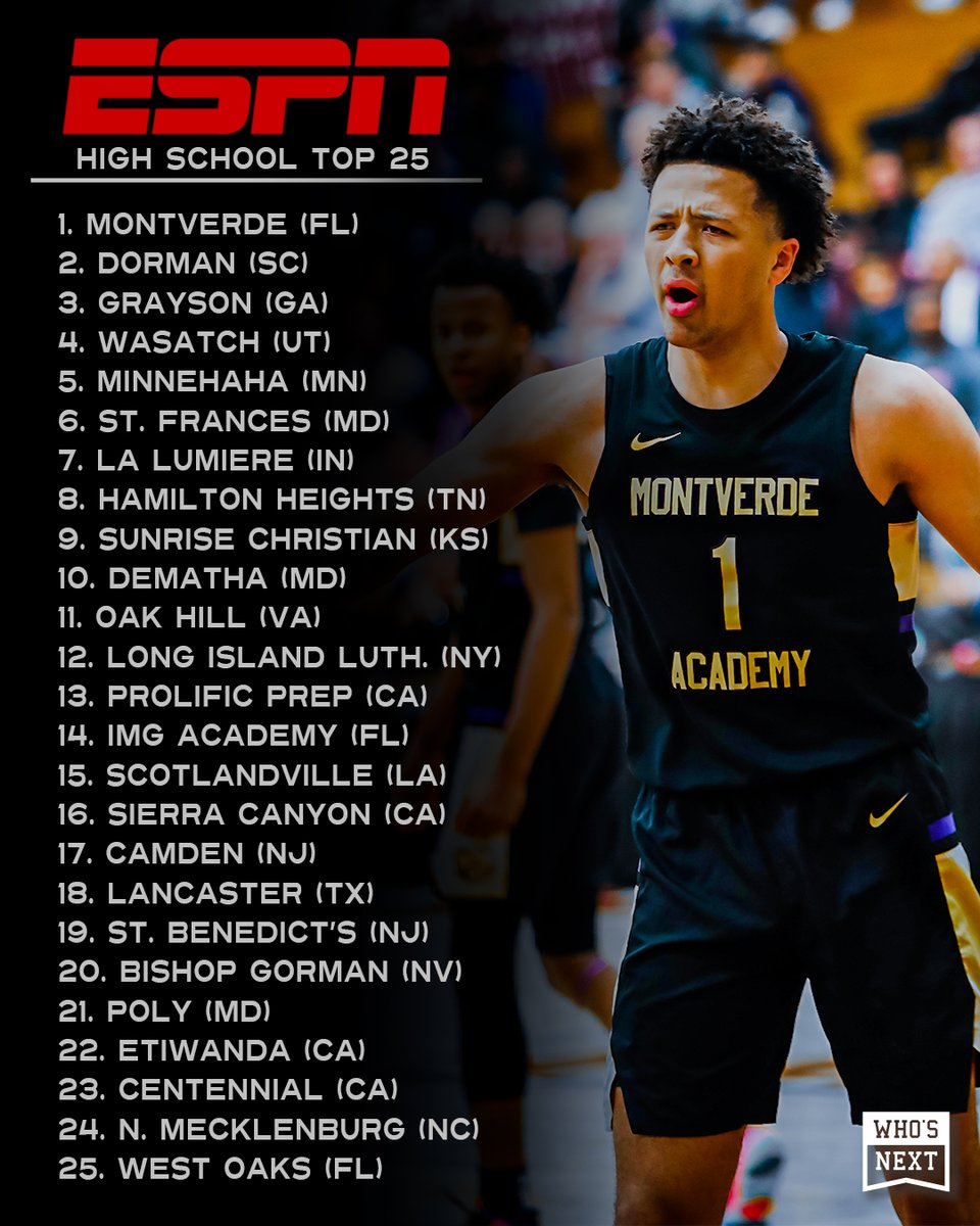 This week's ESPN High School Top 25 👀