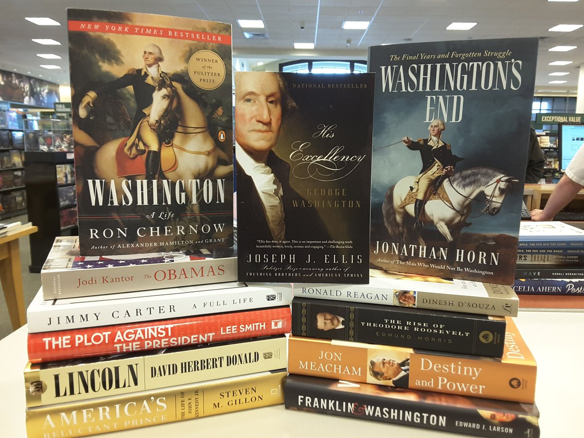 A small sampling of the books available in our store. Read about the many Presidents of our country!