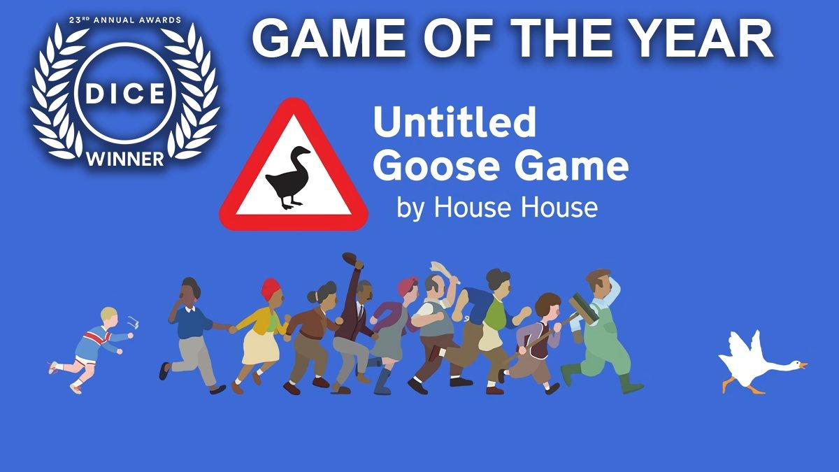 Просто твою мать, ебучая «Untitled Goose Game» стала игрой года, а ещё инди года от Академии Интерактивных Искусств и Наук в рамках 23-ьей «D.I.C.E. Awards». А сам гусь – персонаж года. Какого хера? Какая-то мега-унылая и нелепая шутка, Я надеюсь.  #DICEAwards #UntitledGooseGame