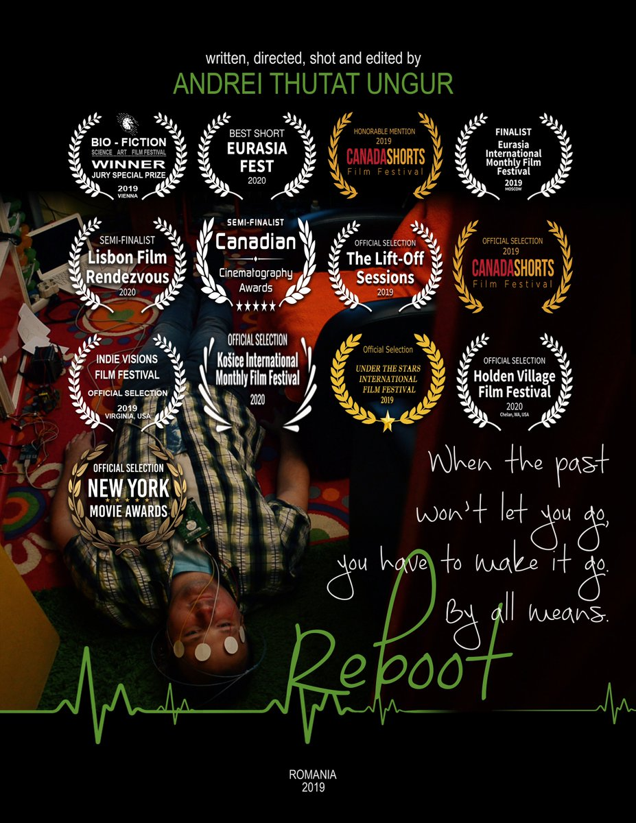 "Updated ""Reboot"" short movie poster with laurel from BEST SHORT Award at Eurasia Fest 2020, Moscow, Russia.   #RebootShortMovie #indiefilmmaking #awards #festivals #shortfilmpic.twitter.com/LRCvO4lZVl"