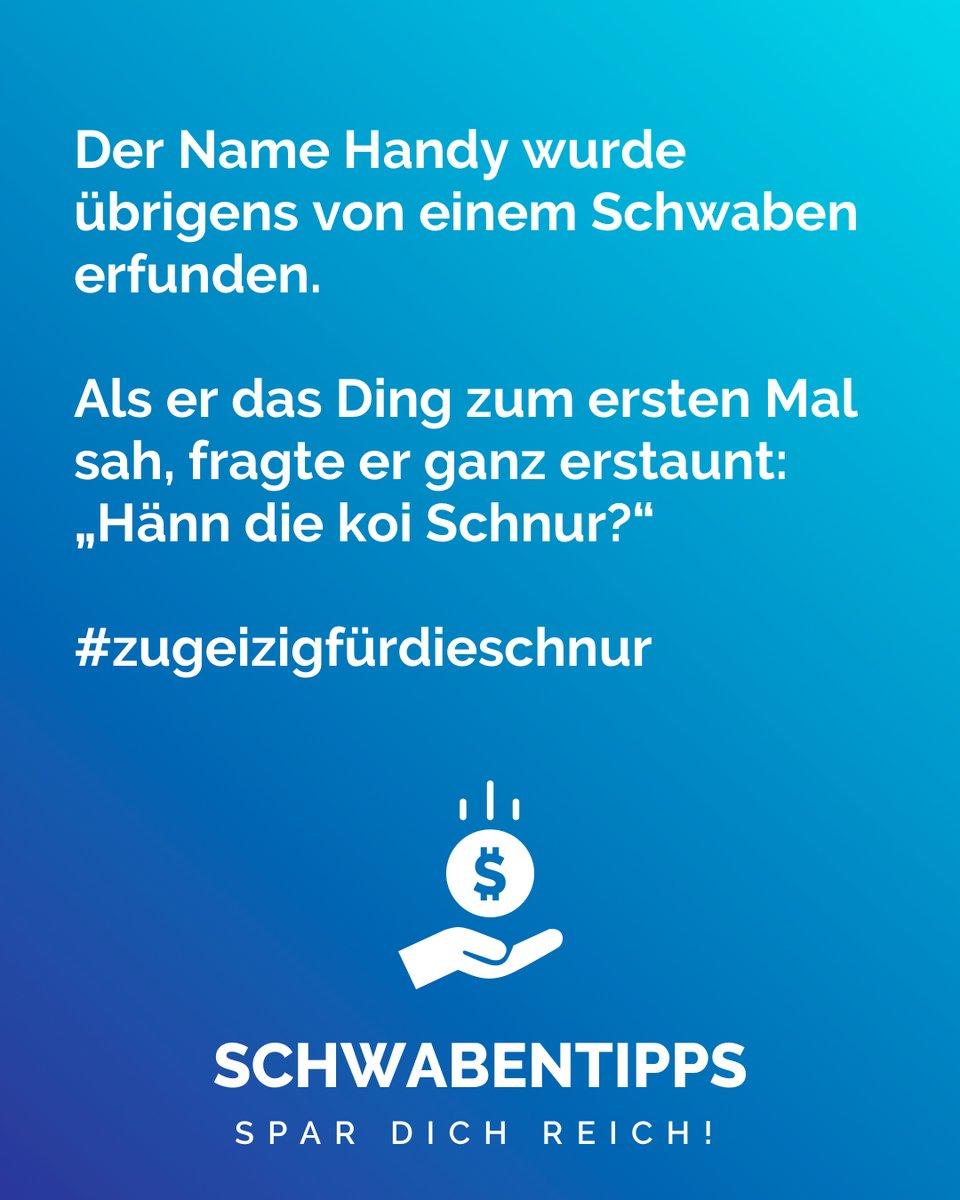 Für mehr folge @schwabentipps_ #schwabentipps #schwabentipp #spardichreich #sparen #jodel #jodeldeutschland #sparsam #schwabe #geizkragen #sparfuchs #spartipps #spartipp #witzig #bestofjodel #sprüche #spruch #genaumeinhumor #lustig #telefonieren #geizhalspic.twitter.com/dH0bYvbh2Y