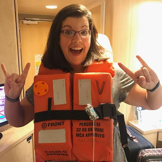 Ready for muster! Yes, you have to carry and wear your life jacket for muster on this ship!! :P #MSCArmonia #MSCCruises pic.twitter.com/vJmp7FZ6Yq