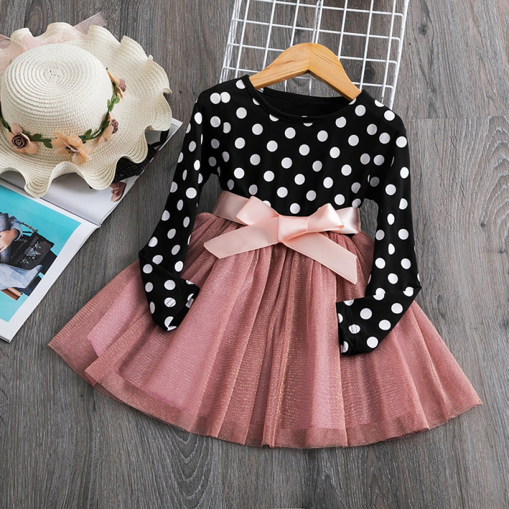Baby Kids Girl Long Sleeves Dress Tutu Dresses for Girl Winter Dots Clothes Children Casaul Wear Clothing 2 to 7 Years Vestidos   #fashion|#sport|#tech|#lifestyle