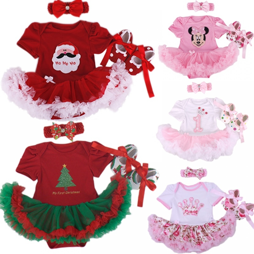 Christmas Baby Girl Infant 3pcs Clothing Sets Suit Princess Tutu Romper Dress/Jumpsuit Xmas Bebe Party Birthday Costumes Vestido  #fashion|#sport|#tech|#lifestyle