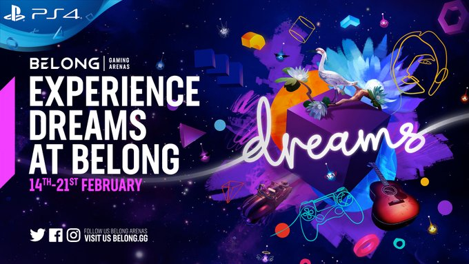 Don't forget to come down to @BelongLDN and Try out #Dreams available to play free until the 21st of February .  Explore and play in a Dreamiverse bursting with creativity! Find out more below:   If you missed out don't worry we are back at it tomorrow! 😁
