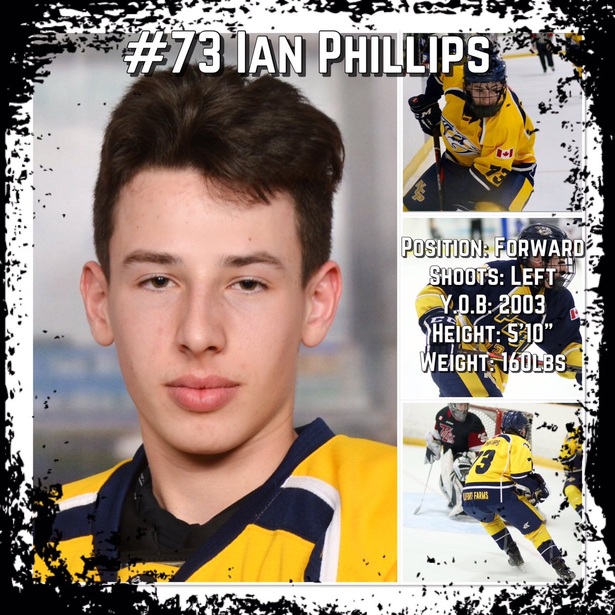North Central Predator Forward #73 Ian Phillips is a smart two way winger. With a nice left shot this player generates offence for his team and displays good work ethic. Phillips rarely backs down and does whatever he can to put the puck in the back of the net.<br>http://pic.twitter.com/MEPsu6I9GU