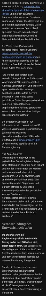 """@borispistorius Du machst gerade einen enormen Fehler, (#NetzDG) das der #SPD auf die Füße fallen wird - ähnlich @katarinabarley mit #Artikel13  Stopp diesen Irrsinn & höre auf richtige Experten! (http://Netzpolitik.org & """"Die deutsche Gesellschaft für Informatik"""" usw) _ .@spddepic.twitter.com/OghGX6ZePd"""