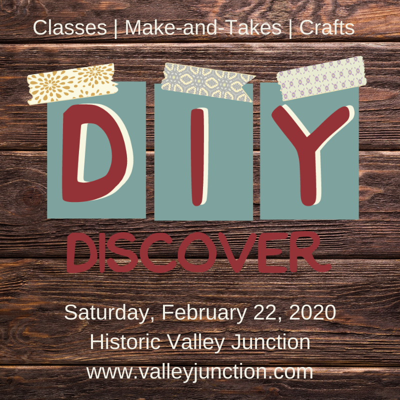 We are so excited for this weekend. Discover It Yourself in Valley Junction will have creative projects throughout the district all day long. #wearemainstreet #lovelocal #shopsmall #DIYJunctionpic.twitter.com/9jOpozE8de