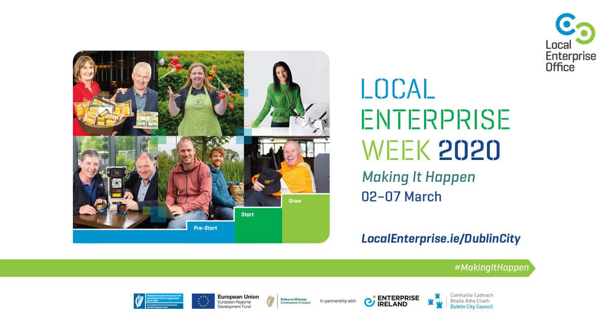 Showcasing the wide range of supports available to suport your business plan, start or grow, Local Enterprise Week 2020 promises to be the best one yet! For info on all our events see http://bit.ly/LEW2020  #MakingItHappen #Mentoring #Training #Funding #Customs #HR #Leanpic.twitter.com/2Uv97NR9LB