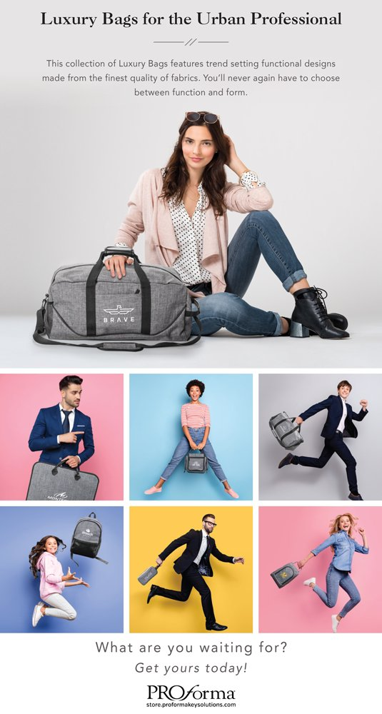 Luxury bags for any occasion! Show off your brand while on the go. Click the link below to find the bag that best suits you.  #proformakeysolutions #promoproducts #luxurybags #urbanprofessional   http://ow.ly/tkvx50yoGHX pic.twitter.com/ups3XsDjpP