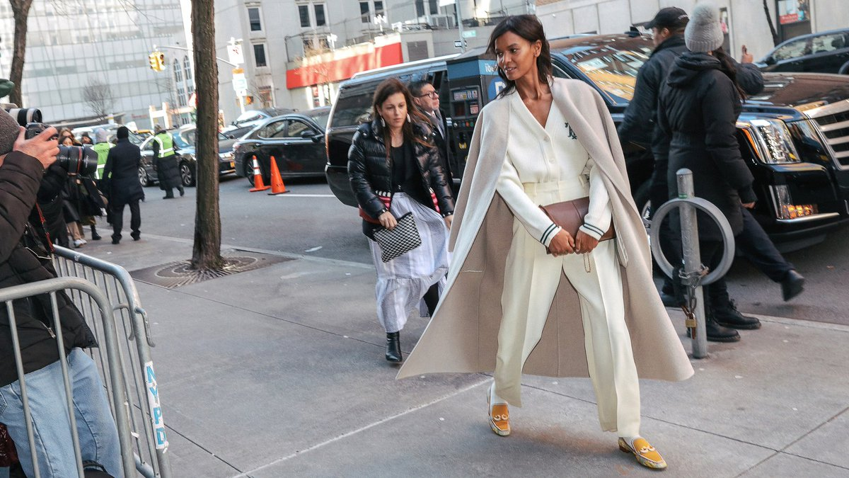 .#TheGet: Street style's new take on winter whites.