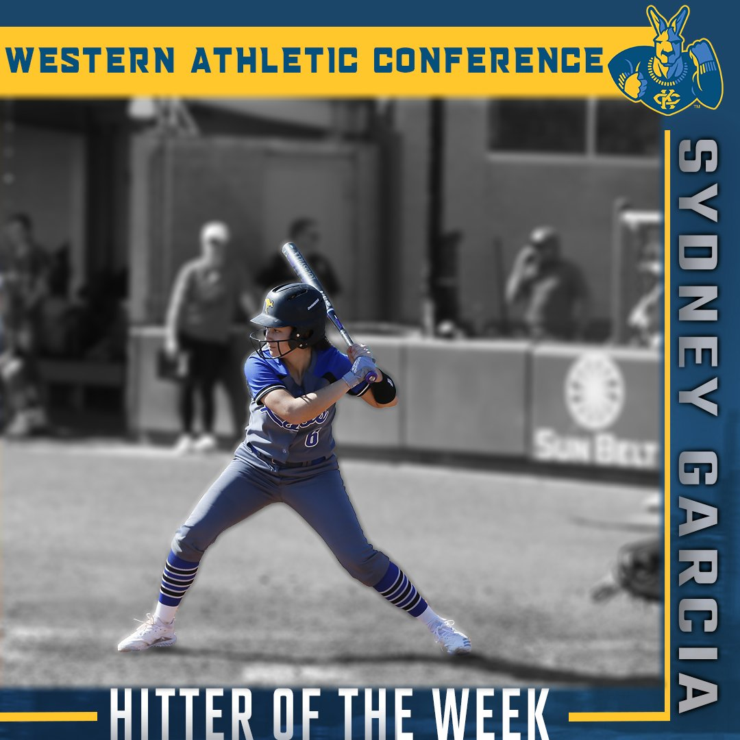 Congratulations to our senior Sydney Garcia on earning @WACsports TicketSmarter Hitter of the Week   STORY → https://bit.ly/2P35PNr   #ROOUP | #KCRoos | #DeclareKC | #KCcommittedpic.twitter.com/06OK6vz3XK