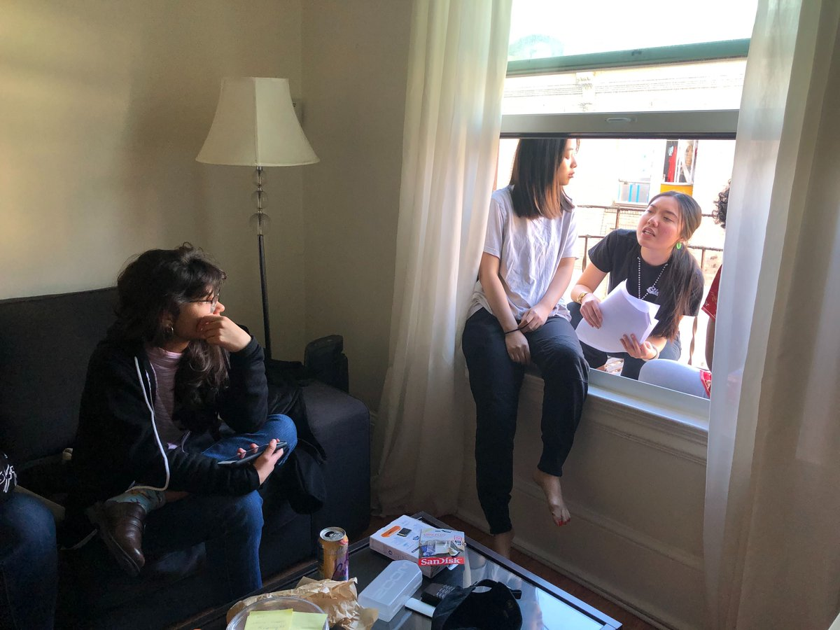 "Actors have been chosen, locations locked in, props delivered, and shot lists finalized for all of our #interns' short films. Catch a glimpse of our intern Irene directing the shoot for her short #film ""Fire Escape"" here: pic.twitter.com/XKovXkCStw"