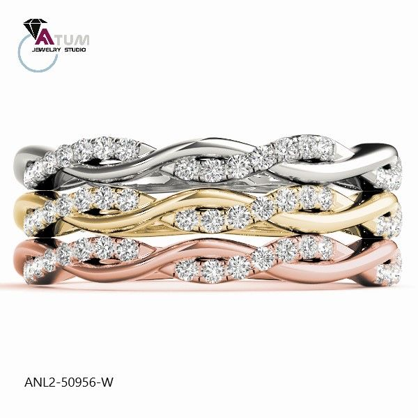 In Irvine, CA. Tel: (949) 402-8478... Twisted wedding band with pave diamonds available in 3 colors 🔥🔥🔥  Item # ANL2-50956-W   #weddingband  #twistedband #whitegold #rosegold #jewelrystore #yellowgold #ocwedding #irvinelife #costamesa #danapoint #gardengrove #tustin