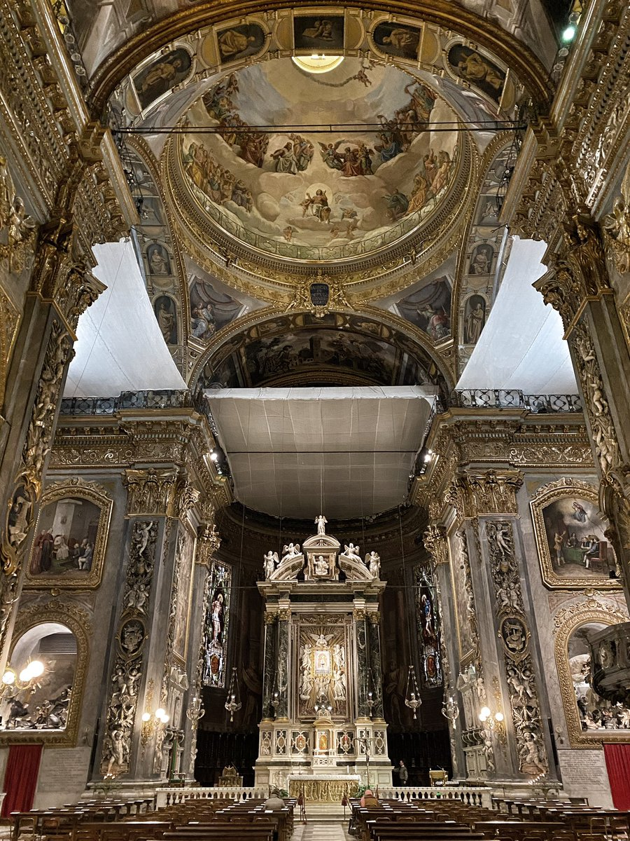 I'm an atheist obsessed with absolutely over the top baroque Catholic churches.   Here's 'Our Lady of the Garden' in Chiavari, built after the Virgin appeared in a garden on this spot. I'm very glad Mary was such a prolific appearer.