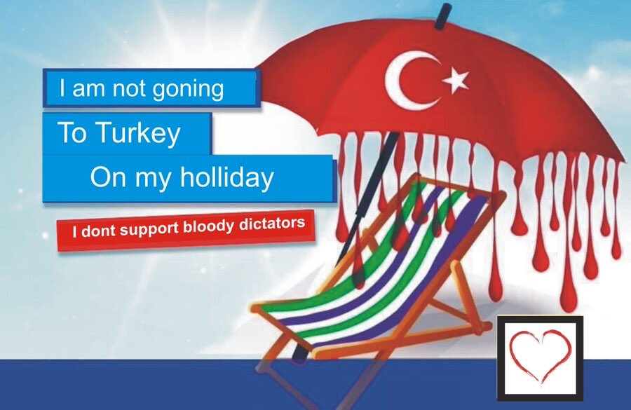 Why would you even go to Turkey?  Have you not seen Erdogan's speeches where he makes clear his contempt for the west & our values?  Worse, are you blind to Turkish support for ISIS & AlQaeda in Syria?  #BoycottTurkey <br>http://pic.twitter.com/XWuC1MvYXd