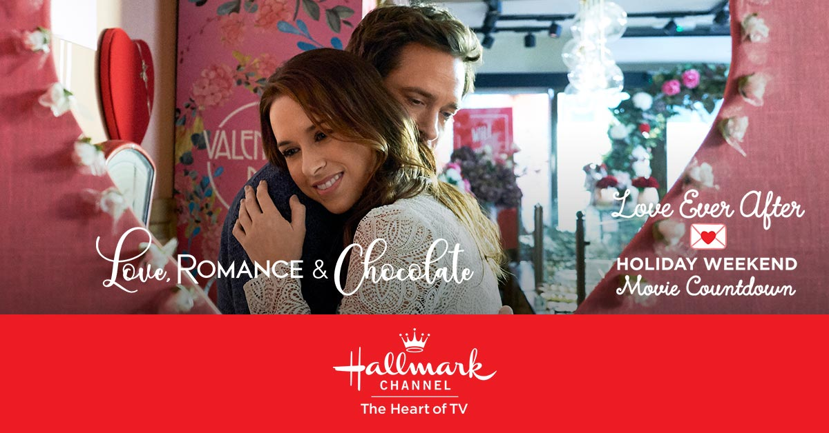 This sweet romance has made its way to the #2 spot on the #LoveEverAfter Holiday Weekend Movie Countdown! East Coast tune in NOW for #LoveRomanceAndChocolate starring @IamLaceyChabert and @IamWillKemp!
