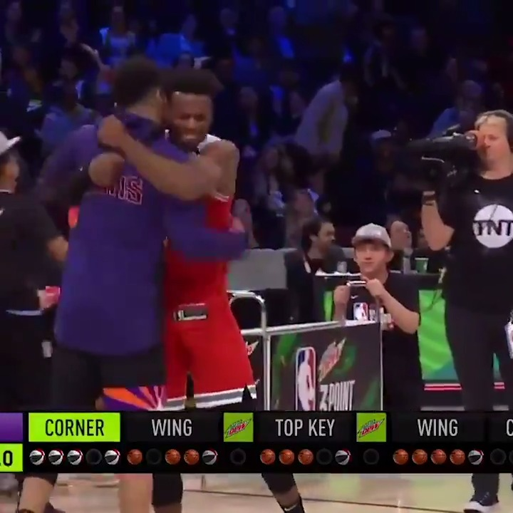 Buddy Hield was lights out in the final round of the #MtnDew3pt contest! 👌