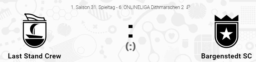 #MATCHDAY @ONLINELIGA_de Dithmarschen 2  Vorentscheidendes Heimspiel! Mit einem Sieg ist Platz 4 fast sicher.  Gegner: Bargenstedt SC Ort: Travemünde  Bilanz Eigene: 15S 7U 8N Gegner: 11S 8U 11N  Verletzt: LSC: - Bargenstedt: -  Duelle: 1-0-0  #DieWuchtinderBuchtpic.twitter.com/cHpfvg59j4