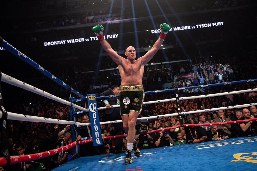 """No doubt in my mind this man gets the job done Saturday. """"What we do in life, echoes in eternity""""Don't forget brother God don't make mistakes @Tyson_Fury 👑👑👑👑"""