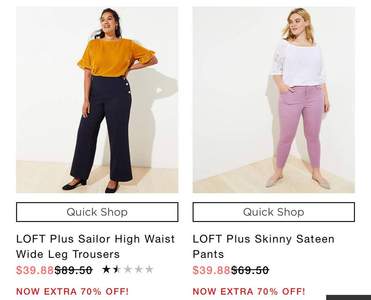 HOT: additional 70% OFF Sale Prices at the LOFT! HURRY.... shop now: Plus Size- https://buff.ly/327lvoq Straight- https://buff.ly/2HyzCtm GOOOOO NO CODE NEEDED. Plus sign up for emails and get FREE Shipping!  #PlusSizeFashion #OOTD #Fashionpic.twitter.com/nXNiZ65JXn