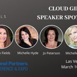 Image for the Tweet beginning: Check out Cloud Girls speaking