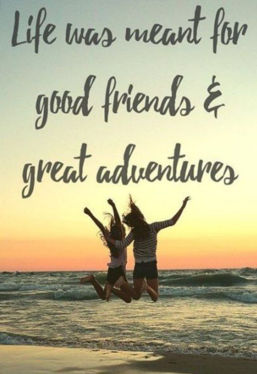 Life was meant for good friends & great adventures. #MateDate #Adventure #FriendsOnTour #LiveLoveLaugh #Friends #Friendship #FriendshipGoals #Adventures #MakingMemories #FriendQuote #TouringFriends #FriendshipQuote #Laughter #FriendsQuote #FriendshipGoalpic.twitter.com/wjc9uivm6A