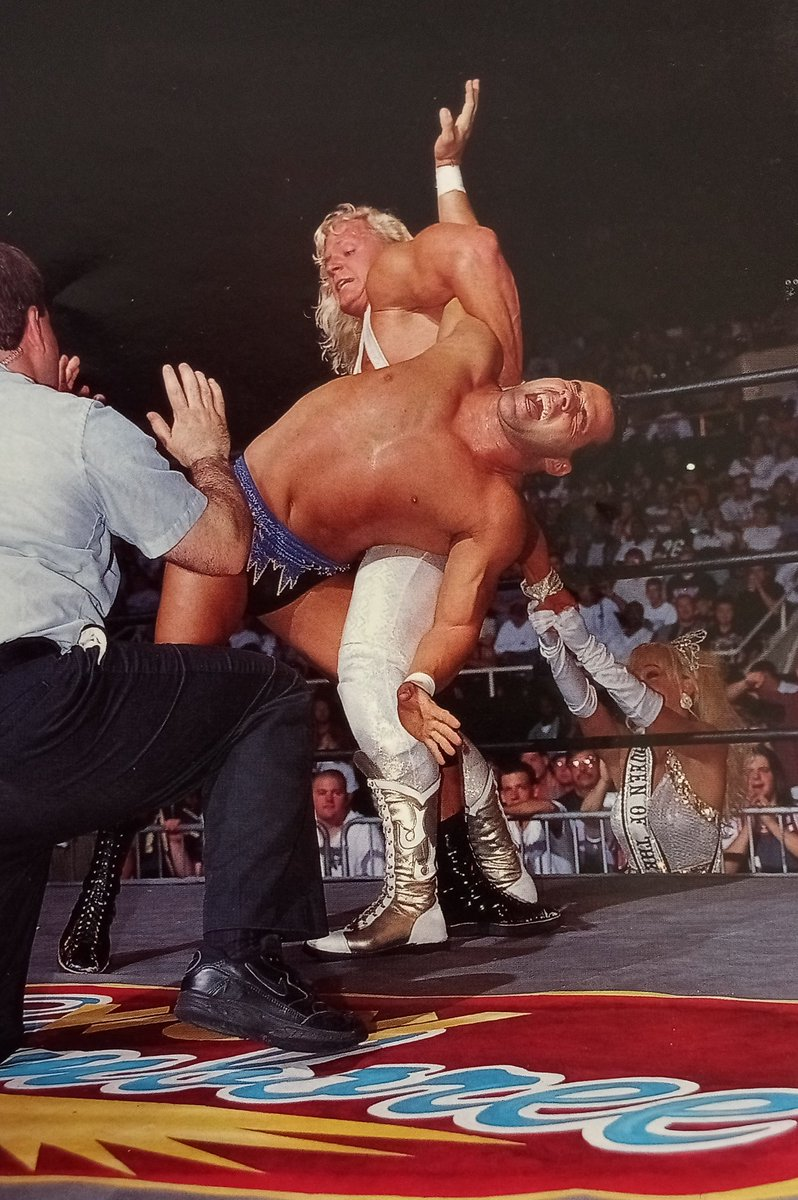 """Rasslin' History 101 on Twitter: """"Jeff Jarrett gets some helpful assistance from Debra as he challenges Dean Malenko for the WCW United States Heavyweight Championship at Slamboree '97.… https://t.co/N4XuEHRZ6L"""""""