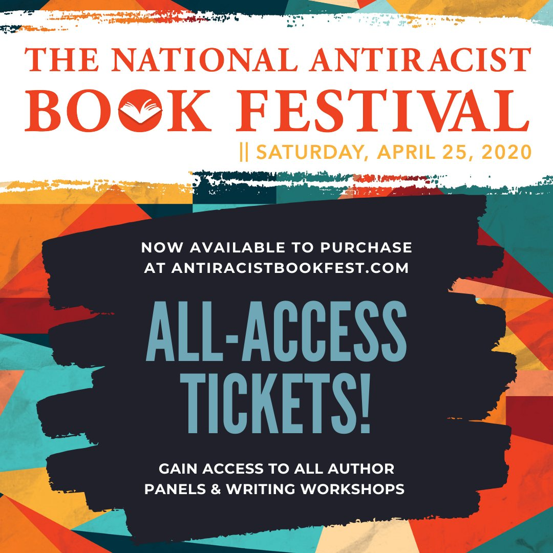 All-access tix are available for the 2nd #AntiracistBookfest Tickets come with priority entry to ALL author panels and writing workshops, a tote bag & a limited edition copy of award-winning #StampedfromtheBeginning by @DrIbram To purchase: https://bit.ly/37DPllo pic.twitter.com/Dwqzma7QGz
