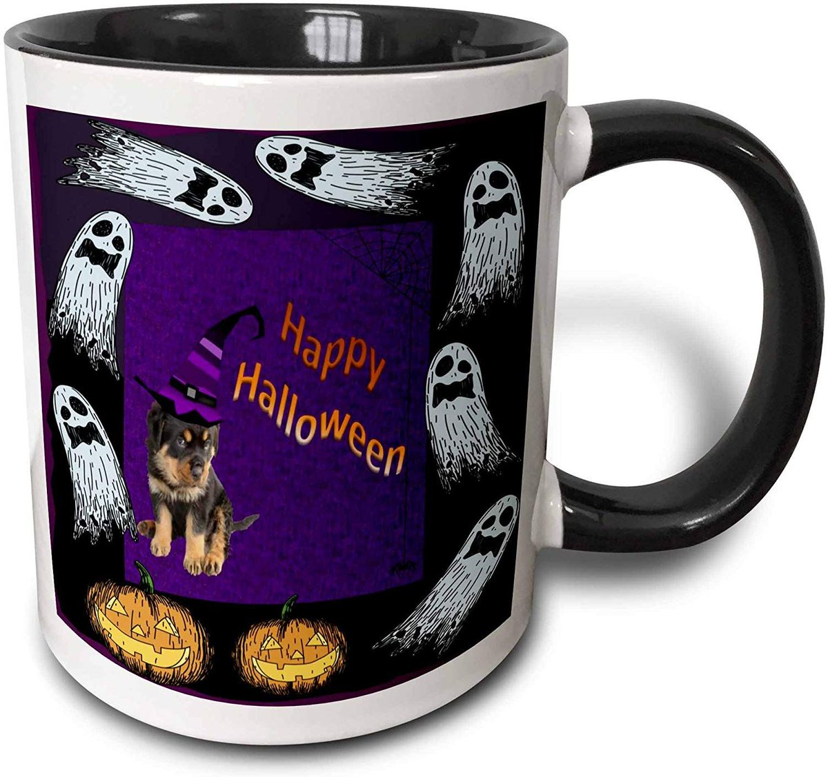 #Ghosts and #Pumpkins #rottweiler #rottielover  #rottiefun #rottiehalloween A #perfectgift and #mug for any occasion. For coffee if hotchocolate is not your cupoftea.  A #fun and #unique #giftidea. @3DRose #ATSocialMedia  ..  via @amazon