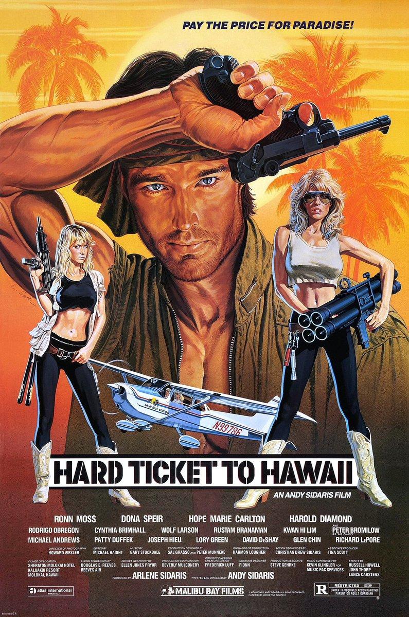 The absolute greatest! Hard Ticket to Hawaii!   #badmovies #andysidaris #actionmovies #bestofbad pic.twitter.com/SKoGdNWpQD