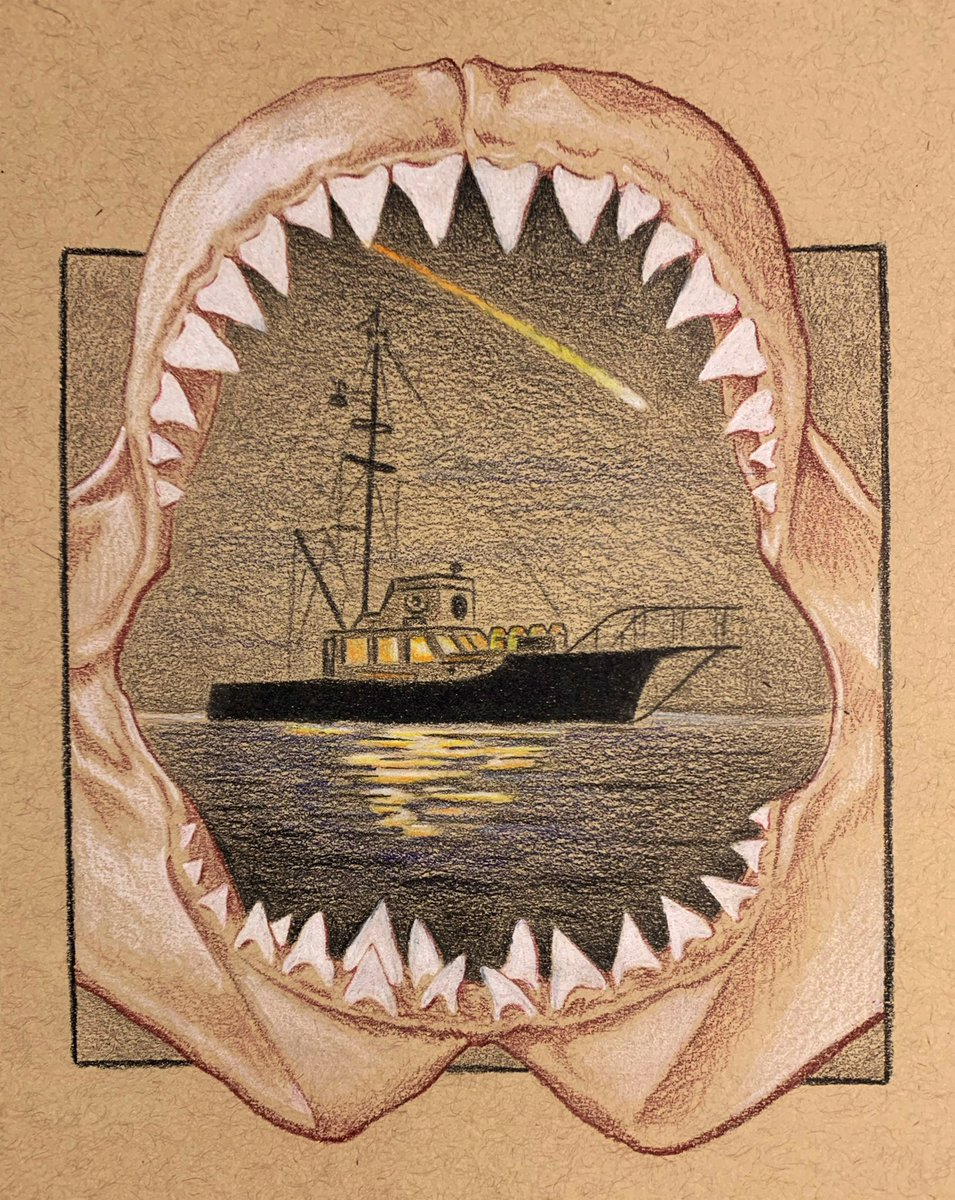 We're going to need a bigger boat! Jaws and the Orca is one of my all time favorites. More Jaws pieces coming soon! #jaws #StevenSpielbergpic.twitter.com/DvvaVdmwPW