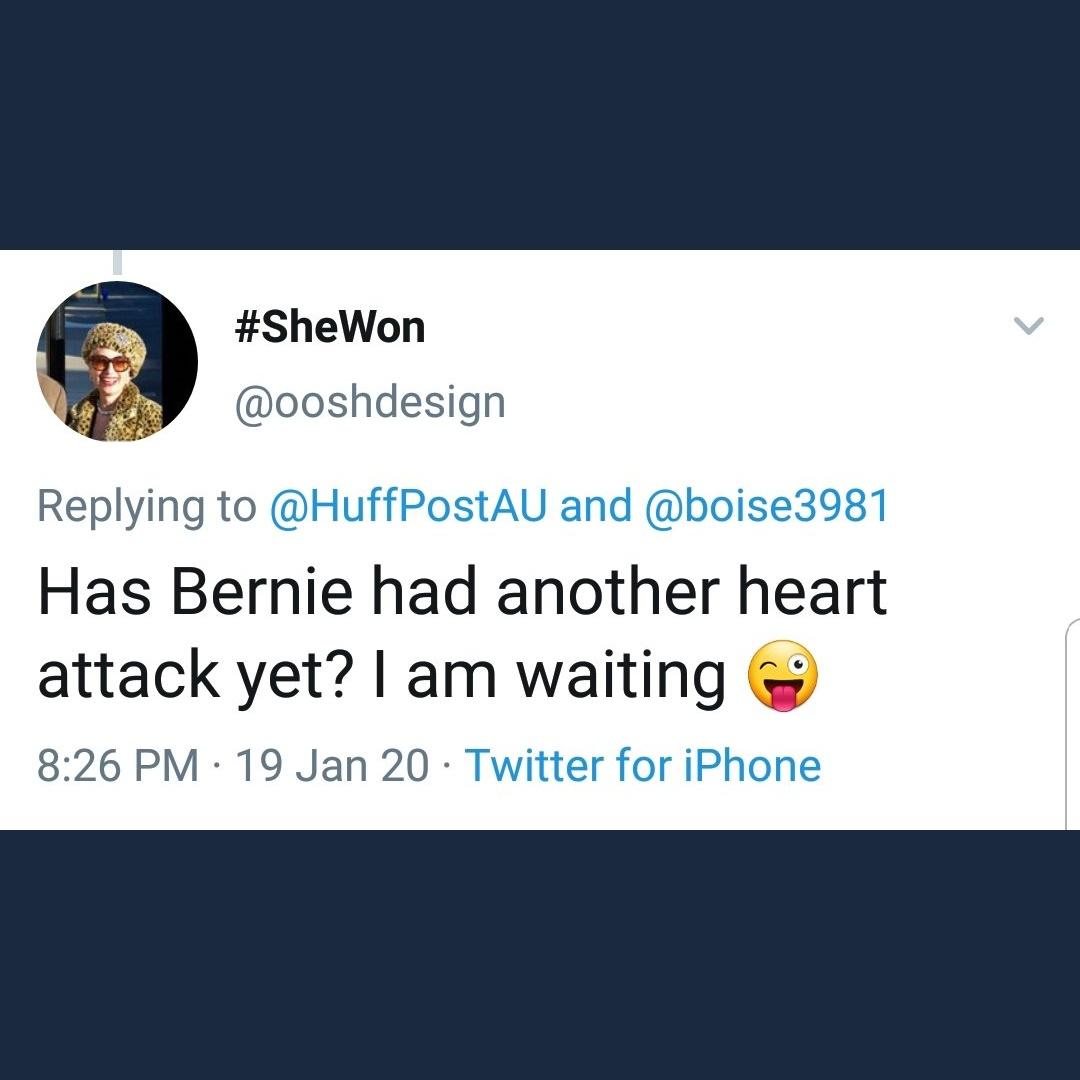 @R_CAdams @Logan_HallMan @UnLocalHero @BernieSanders So many kind lovely centrist Democrats on the site