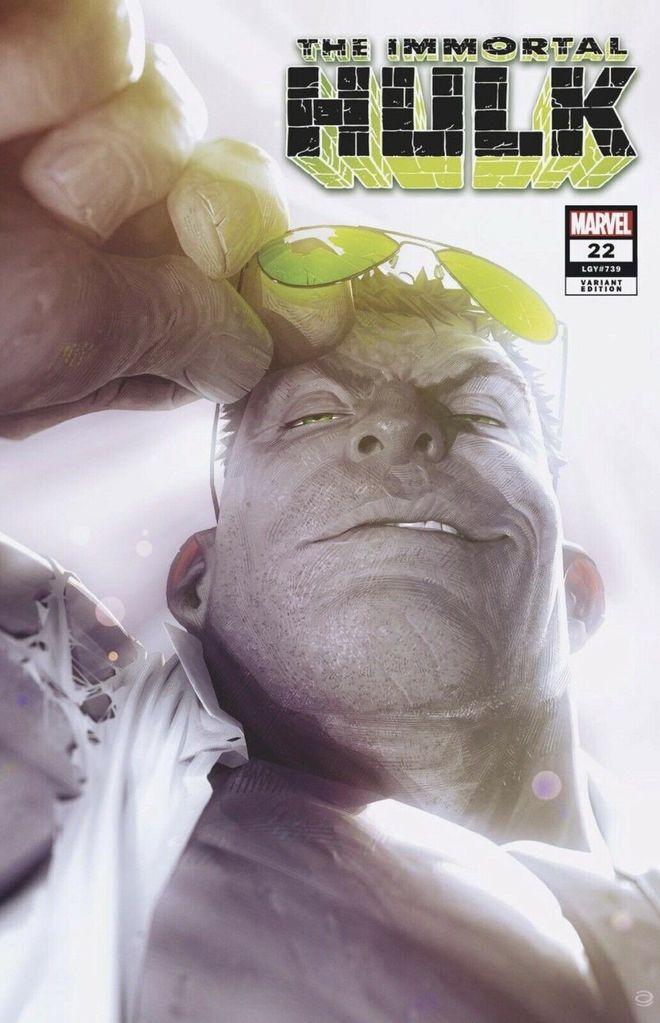 The variant cover to The Immortal Hulk # 22 by Alex Garner. Cool! #alexgarner #theimmortalhulk #variantcovers #marvelcomics #thecosmiccomicbookbroadcast #comicbookbroadcaster #ICON #comicbooks pic.twitter.com/Ui3AvTSWkI