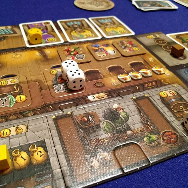 Played through a couple of the modules in Taverns of Tiefenthal tonight. I'm liking it even more with each of the additions!  #boardgamegeek #boardgamesofinstagram #boardgamegirl #bgg #tavernsoftiefenthal https://ift.tt/2HumipV pic.twitter.com/dqU5iFFtaN