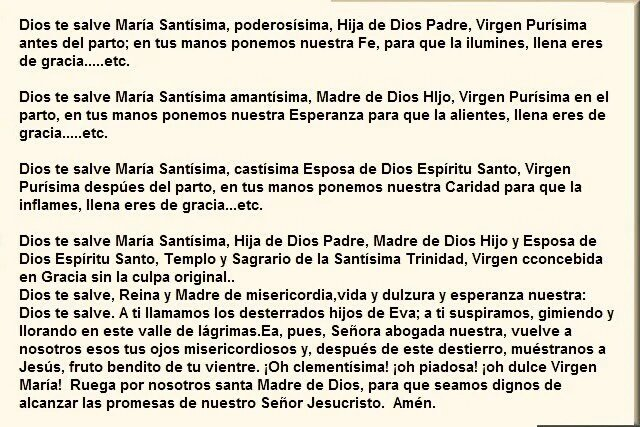 @marthabtz Dios te salve Maria Santísima, Poderosísima...