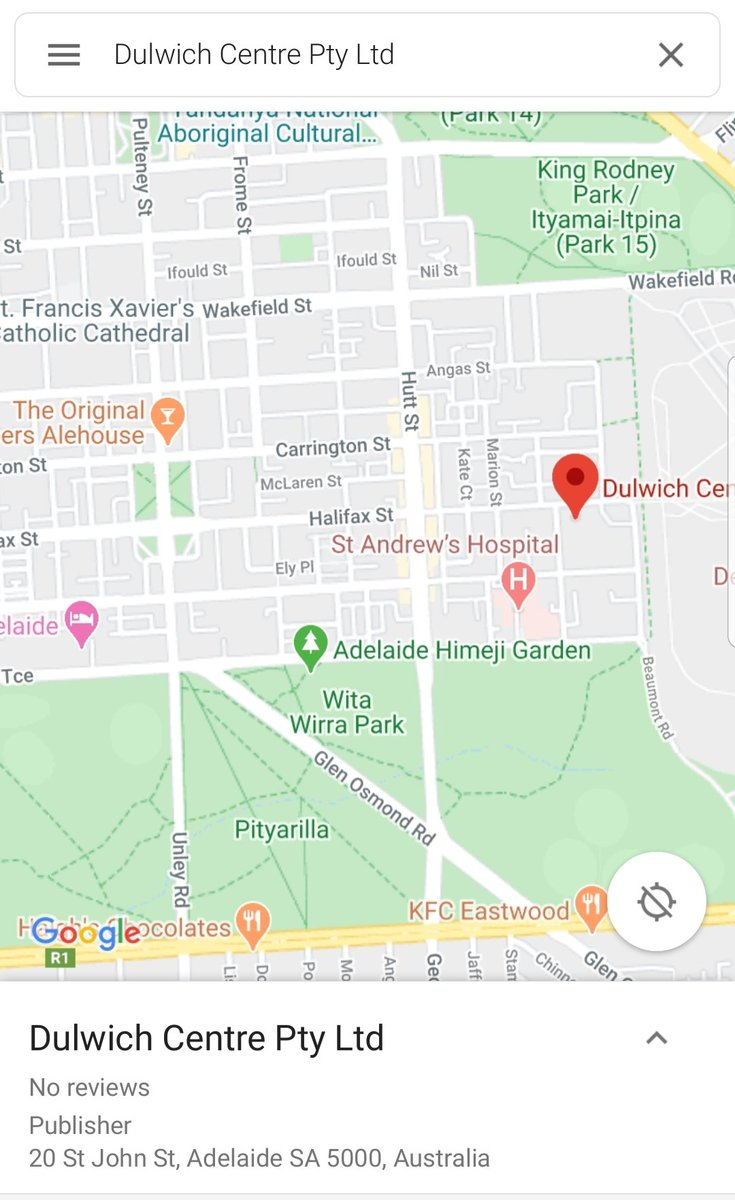 Anyone with accommodation recommendations for #Adelaide, please dm. Looking for something for two weeks, private and preferably walking distance from Dulwich Centre (pinned on image). Cheers! #narrativetherapypic.twitter.com/siV58OOSwW