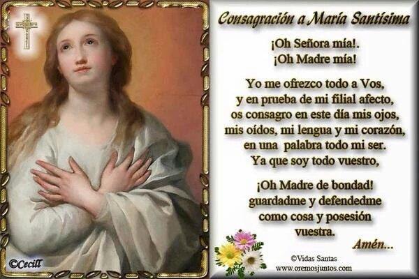 @marthabtz Consagración a María Santísima