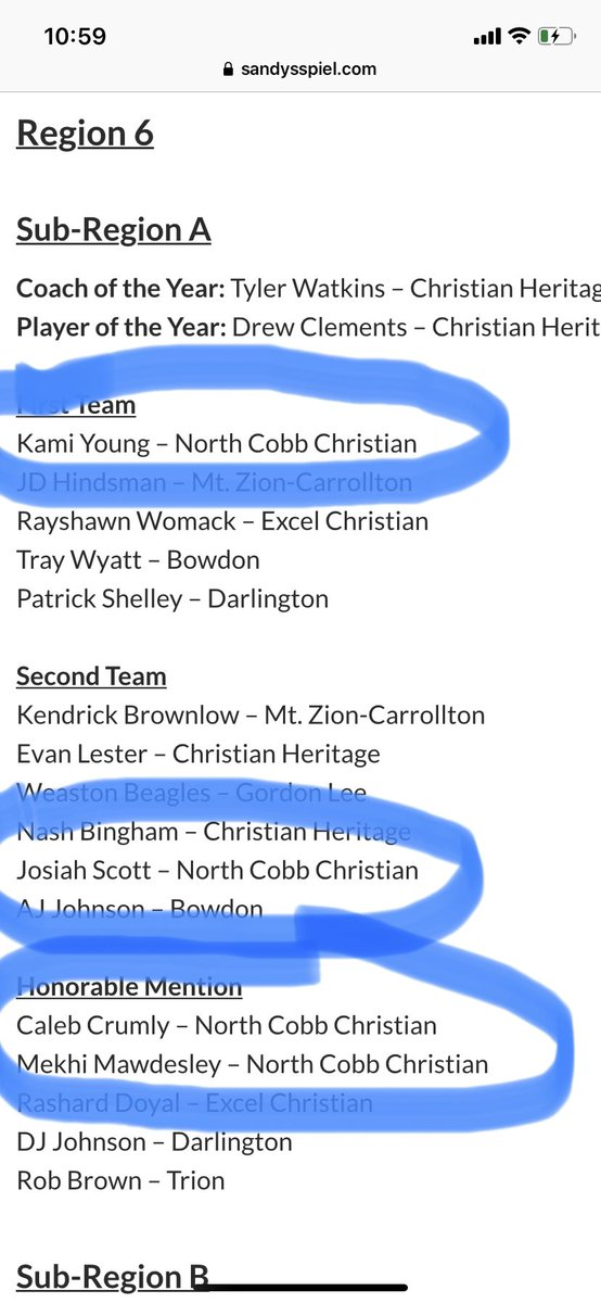 Congratulations to our NCCS players that made the All Region teams  '22 Kami Young 1st team '20 Josiah Scott 2nd Team  Honorable Mention '20 Caleb Crumly '22 Mekhi Mawdesley  Go get em Weds! Looking for yet another Elite 8 appearance and to crack that final 4 code! https://t.co/PXAtq49oOw