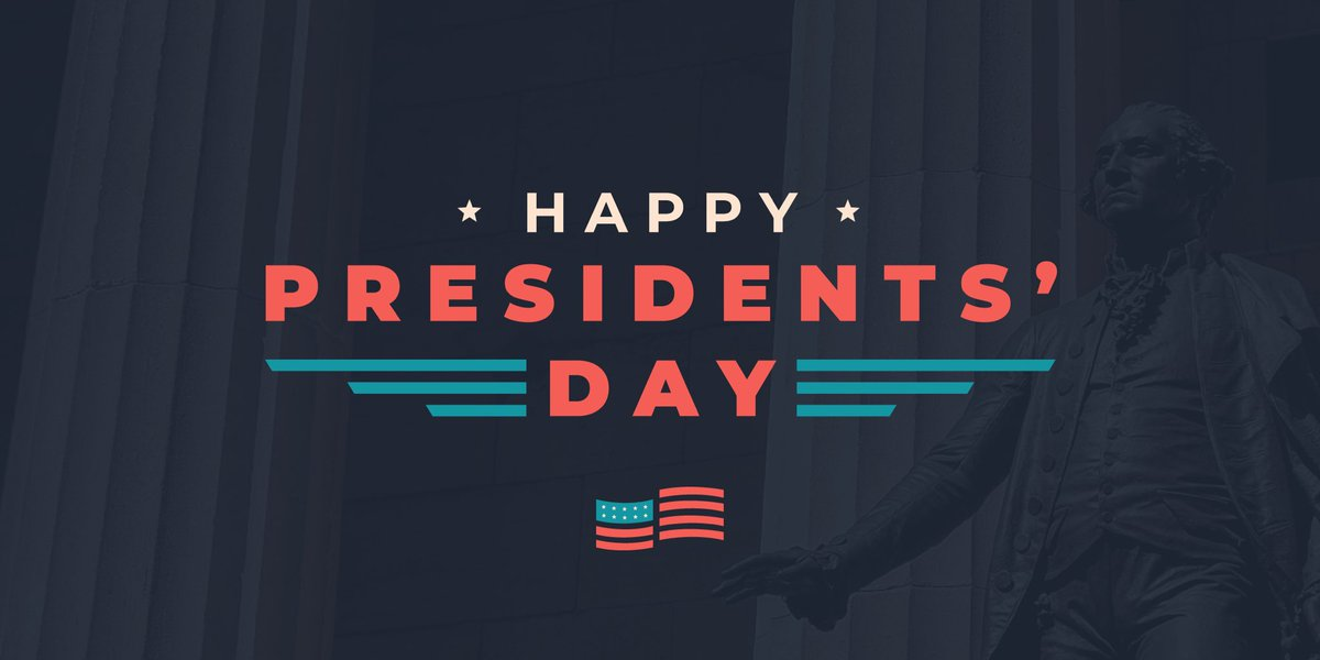 Happy #PresidentsDay! Today we recognize the presidents who have shaped our great nation, including the first president of the United States, George Washington.