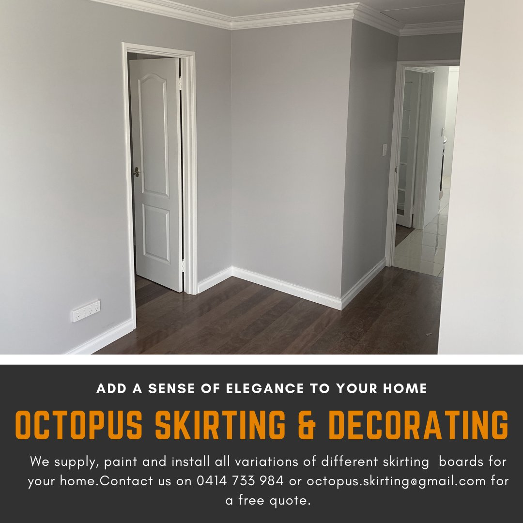 A perfect way to design and refine your home! Add a sense of elegance and boldness to your home by contacting us today on 0414 733 984 or octopus.skirting@gmail.com for a free quote! #octopusskirting #octopuspainting #elegance #skirtingboards #style #business #skirting #style