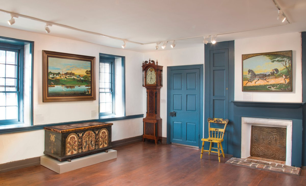 The Dewey Tavern, Soldier Blue in this room.  This is a beautiful Restoration by Lisa Minardi, Executive Director of Historic Trappe and author.    #OldVillagePaint #SoldierBlue #LisaMinardi https://t.co/dpBJcUuZ2M