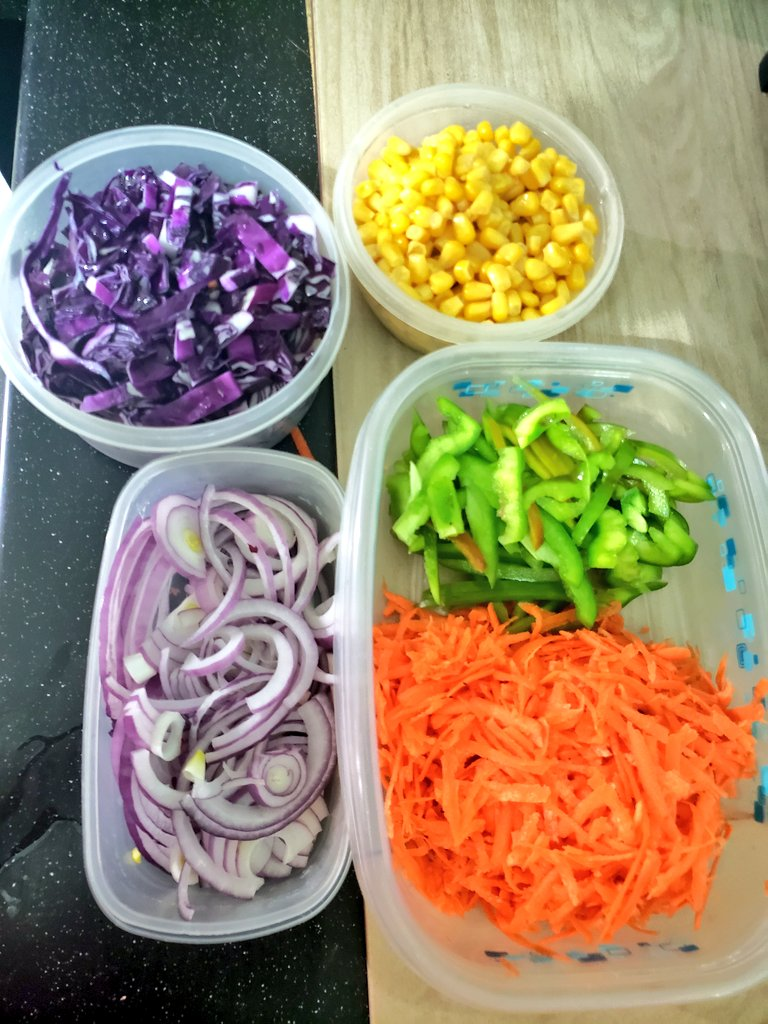Made my first salad! 😐 #NoShame #proud #salad it's so beautiful 😭