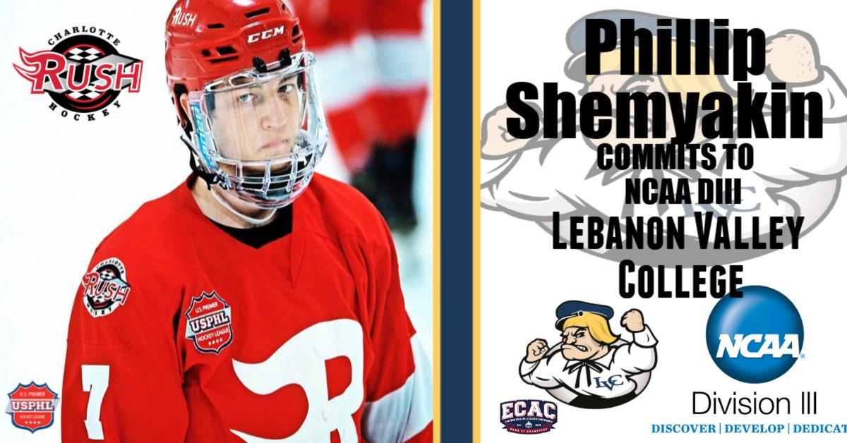 Congratulations Phillip Shemyakin on committing to NCAA D III Lebanon Valley College! @LVCathletics ! @USPHL @The_DanKShow #proud #playeradvancement