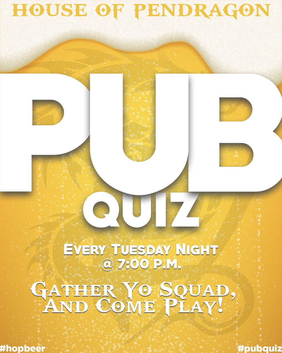 #pubquiz is going down tomorrow night! Gather your team & get your quiz on! Registration starts @ 6:30 PM, 1st question is @ 7PM. Not a Quizzer?? It's ok, come by & watch the show and let's share a pint! #hopbeer #drinklocal #craft-beer #doyouevenquizbro #trivia #bartrivia #beerpic.twitter.com/SrrnwTkZ4W