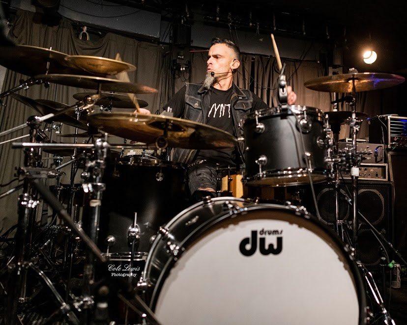 Our very own @joehell_rknegn ready to brutalize the HELL out of his drums with our new devilish riffs  Let's get crazy on February 29th at @moosemcguiresottawa for the @rebel101rocks Real Rock Search  @colelewisphotography  #rocklocal #heavymetal #dwdrums pic.twitter.com/kbDrK4qrFr