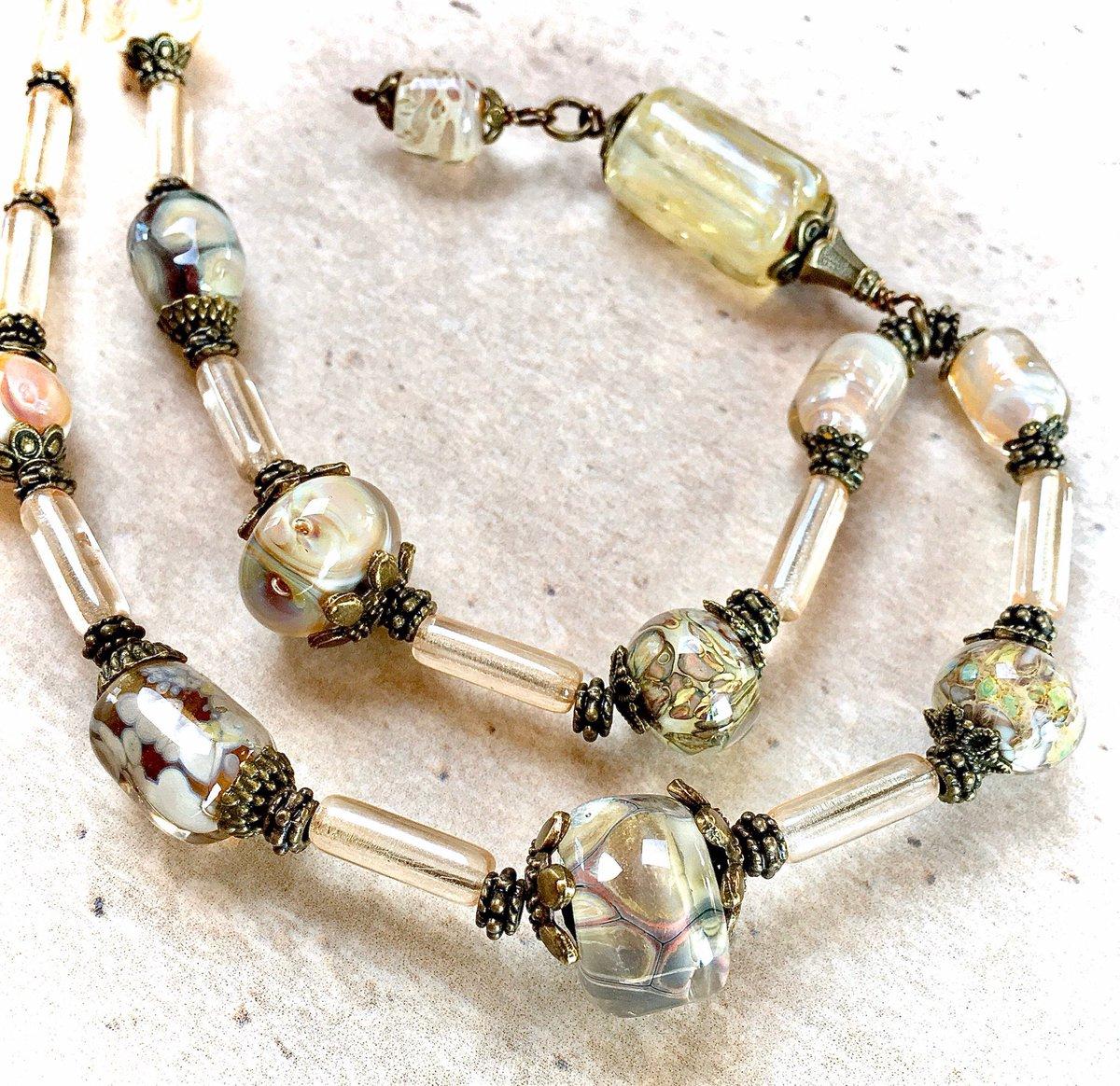 I love making Iridescent Pendant Lampwork necklace #jewelry #necklace #lampwork #handmade #lampworkbead